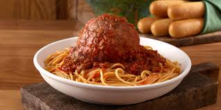 giant meatball and giant chicken Parmesan