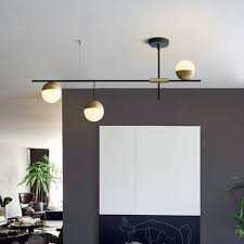 mid century modern 3 light linear