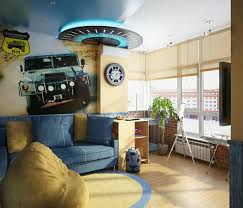 Teen Room Designs Amazing Ideas For Little Boys Rooms With The Nice Wallpaper Nice Picture Design Blue Yellow Boys Room Car Design Motif Blue Square Shaped Pillow Good Big Rectangle Soft Sofa