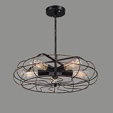 industrial semi flush mount ceiling fan