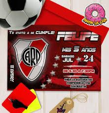 Tarjetas Invitaciones Cumpleanos Futbol X10uni 60 00 En