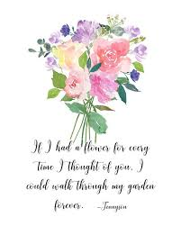tennyson poetry quote art if i had a flower tennyson quote