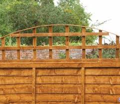 Forest Convex 183cm X 46cm Trellis Fence Topper Trellis Fence Fence Toppers Fence