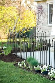 Triple Arch Finial Fence Section In Black 27 99