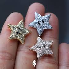 super mario star pendant fully iced