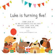 Dog Birthday Invitation Template Free Invitaciones De