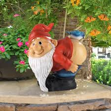 garden gnome couple lilly and len