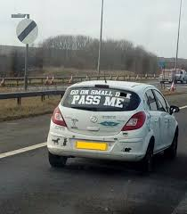 Rude Car Window Sticker Raises Eyebrows Of Male Drivers On M62 Yorkshirelive
