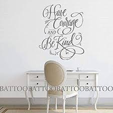Battoo Have Courage And Be Kind Cinderella Wall Art Quote Cinderella Wall Decal Have Courage And Be Kind Wall Girls Wall Decals Wall Decal Sticker Horse Decor