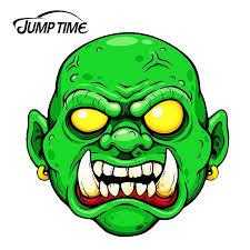 Jumptime 13cm X 12 5cm Scary Halloween Evil Zombie Head Dead Auto Moto Vinyl Jdm Car Tank Rear Windshield Decal Car Stickers Aliexpress