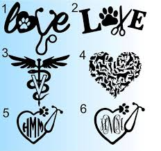 Vet Tech Decal Veterinarian Decal Animal Doctor Yeti Decal Vet Tech Tattoo Vet Tech Graduation Cap Decoration