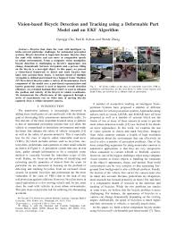 PDF) Vision-based Bicycle Detection and Tracking using a Deformable Part  Model and an EKF Algorithm | William Wu - Academia.edu