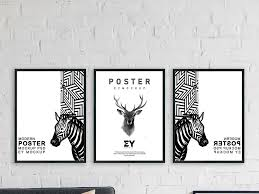 free 3 artwork frames mockup psd