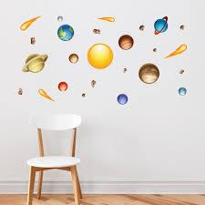 Space Jam Nursery Wall Decals Solar System Wall Decal Nursery Walls