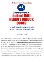 Motorola V186 Unlock Code by Vallie ...