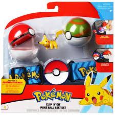 Pokemon Pikachu with Poke Ball Nest Ball Clip N Go Poke Ball Belt ...