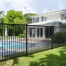 4 10 X 7 9 Black Steel Fence Panel At Menards