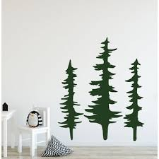 Shop Pine Tree Wall Decal For Nursery On Sale Overstock 32015518