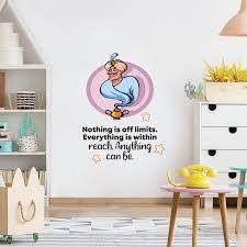 Design With Vinyl Off Limits Genie Aladdin Life Cartoon Quotes Decors Wall Sticker Art Design Decal For Girls Boys Kids Room Home Decor Wall Art Vinyl 10x8 Inch Wayfair