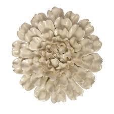 Shop Isabella Large Ceramic Flower Wall Decor Overstock 9427133