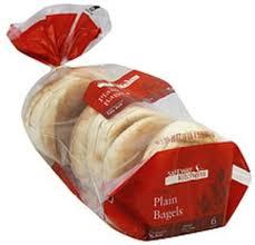 safeway kitchens sliced plain bagels