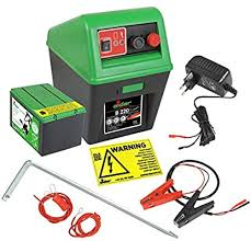 Electric Fence Set Strong Eider B220 For 9 V 12 V 230 V Operation With All Accessories For Connecting To Your Fence Amazon Co Uk Pet Supplies
