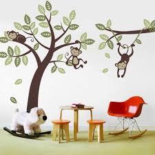 3 Monkey Tree And Branch Vine Kid Wall Decals Baby Nursery Etsy Kids Wall Decals Nursery Vinyl Monkey Nursery