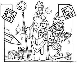 Sinterklaas En Zwarte Piet Kleurplaat 09753 Kleurplaat