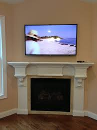 cable box for tv over fireplace