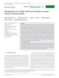 lexicon for descriptive sensory