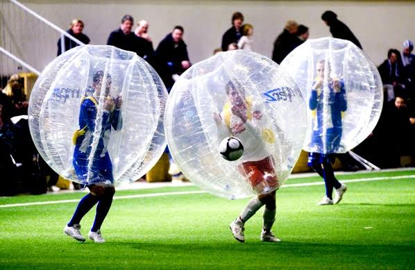 bubble football stag activity in Galway