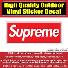 Supreme Vinyl Car Window Laptop Bumper Sticker Decal Colorado Sticker