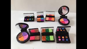 diy miniature makeup blush and eye