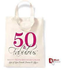 50th birthday gift cotton tote bag