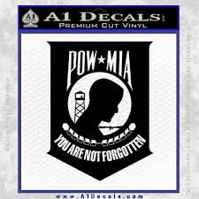 Pow Mia Official Decal Sticker D4 A1 Decals