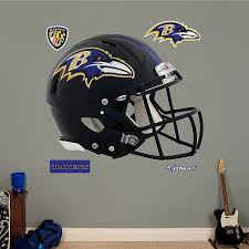 Baltimore Ravens Logo Wall Decal Decor Sticker Sports Multi Color Vinyl Nfl