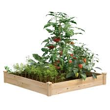 Best Value Cedar Raised Garden Bed Planter 48 W X 48 L X 7 H Rcec4c Greenes Fence Company