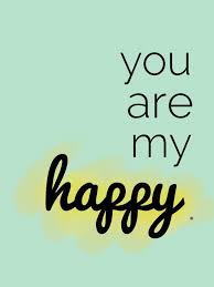 you are my happy freshly married