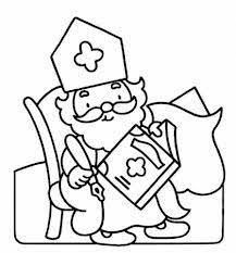 Kleurplaat Sinterklaas Leest In Het Grote Boek Kleurplaten