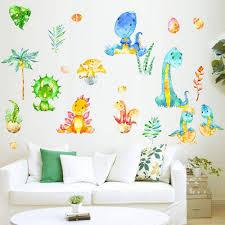 Amazon Com Dinosaur Wall Decals Watercolor Dino Nursery Wall Art Stickers For Boys Kids Room Decor Baby