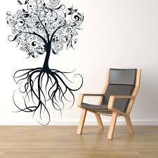 Tree With Roots Beautiful Wall Decals