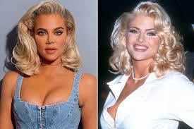 Khloé Kardashian Channels Anna Nicole Smith's Iconic Guess Shoot |  PEOPLE.com