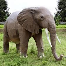 massive backyard elephant statue