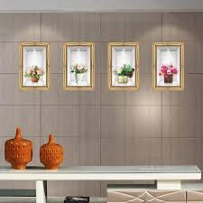 Simulation Stereo Flowers Vase Wall Stickers Living Room Bedroom Fake Frame Bonsai Wall Decals Diy Home Decoration Wallpaper Poster Art Cheap Wall Decor Stickers Cheap Wall Murals And Decals From Magicforwall 4 88