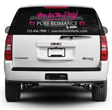 Pure Romance Rear Window Decal Here For The Party Pink Pure Romance