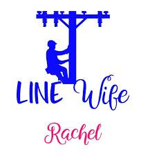 Amazon Com Line Wife Lineman On Pole Decal Sticker With Name For Car Laptop Phone Cooler Tumbler Or Cup Handmade