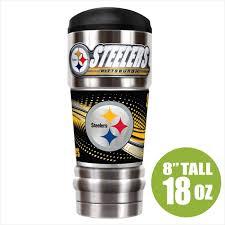 Pittsburgh Steelers Insulated 18oz Stainless Travel Mug Sunburst Reflections