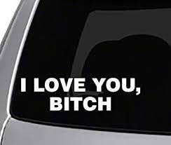 Amazon Com Seek I Love You Bitch Decal Car Truck Window Sticker Jdm Funny Joke Automotive
