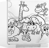Poster Wilde Dieren Cartoon Kleurplaat Pixers We Leven Om Te
