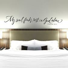 Christian Wall Decal My Soul Finds Rest In God Alone Bedroom Wall Decor Psalms Vinyl Wall Sticker Bible Verse Quote G393 Wall Stickers Aliexpress